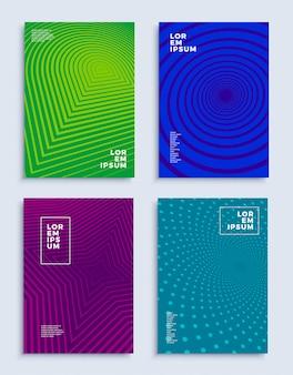 Couvre les modèles de conception abstraite modernes mis des compositions géométriques futuristes