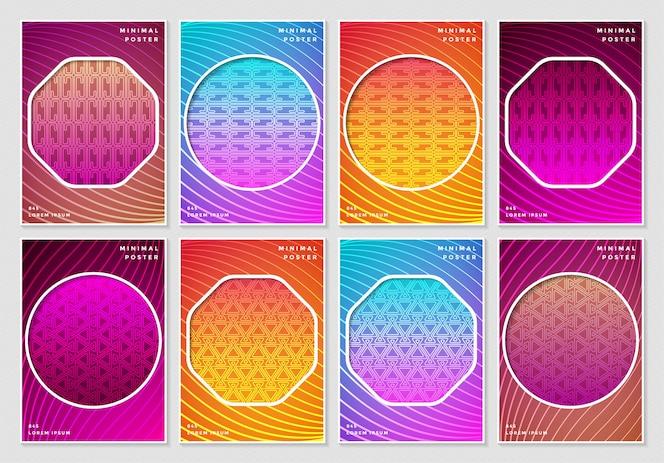 Couvre un motif géométrique sans soudure abstrait