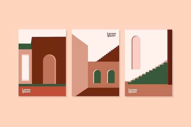 Couvre le pack de modèles d'architecture minimale