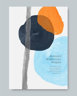 Couvre le style de formes aquarelles abstraites
