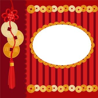 Couvrir le feng shui avec des pièces de monnaie