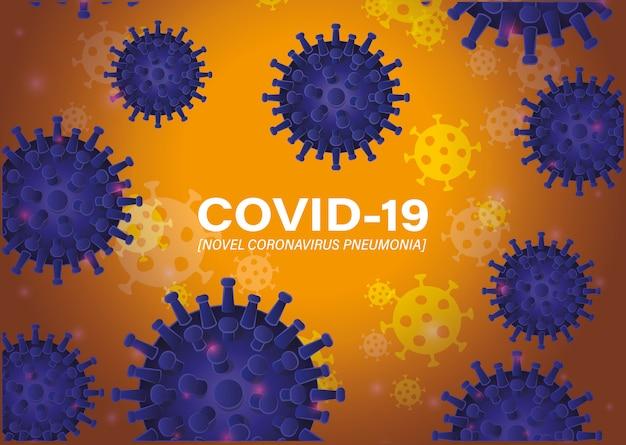 Covid 19 nouvelle pneumonie à coronavirus devant le fond du virus