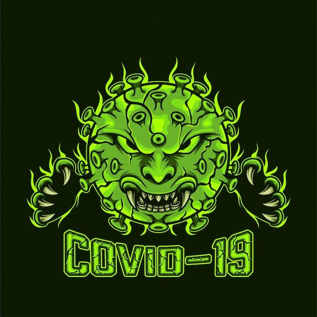 Covid-19 Vecteur Premium