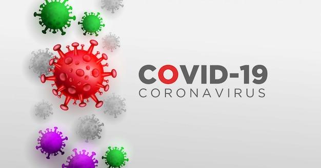 Covid coronavirus en concept d'illustration 3d réel pour décrire l'anatomie et le type du virus corona.