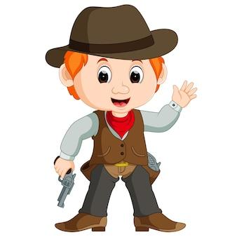 Cowboy drôle de bande dessinée