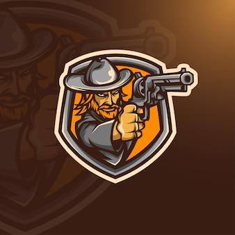 Cowboy logo esport
