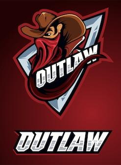 Cowboy outlaw head