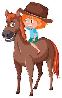 Un cowgirl à cheval