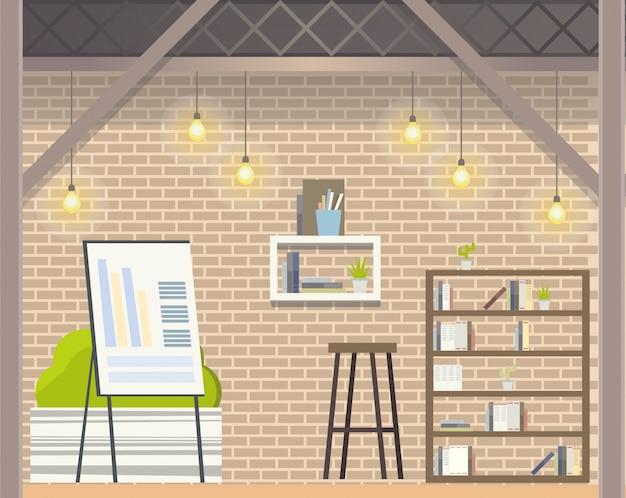 Coworking créatif open space design de bureau moderne