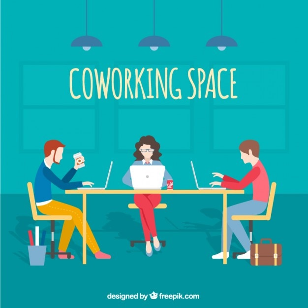 Coworking espace illustration