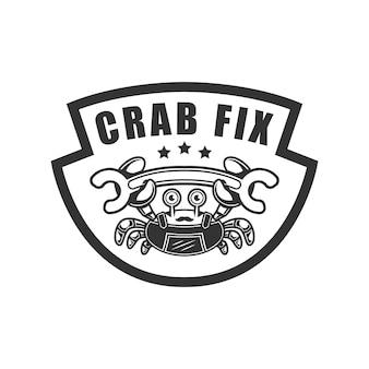 Crabe fix logo crabe tenant la clé
