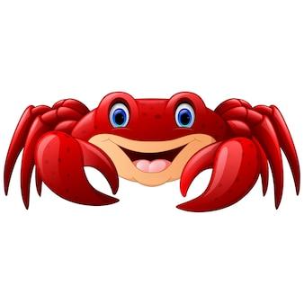 Crabe marin rouge de dessin animé
