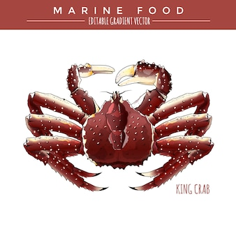 Crabe royal. marine food