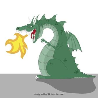 Crachant le feu dragon