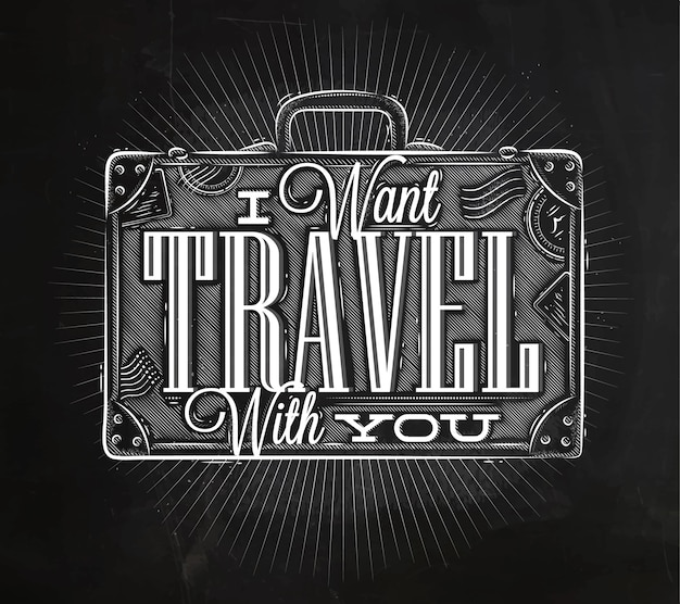 Craie de valise d'affiche touristique