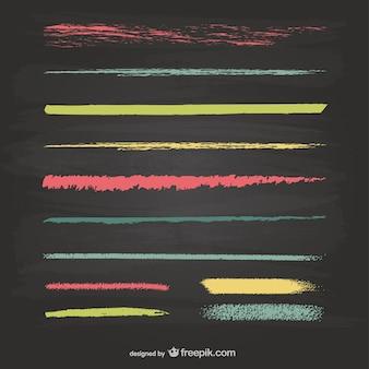 Craie vecteur lignes de texture graphiques