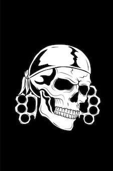 Crâne avec bandana et jointure
