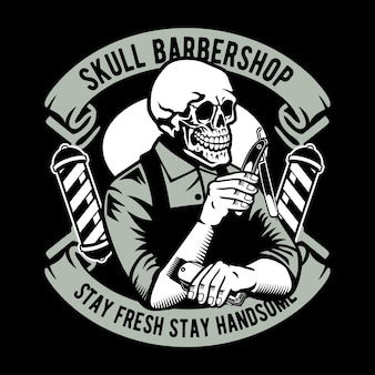 Crâne barbier