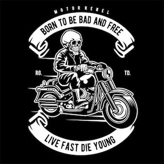 Crâne biker