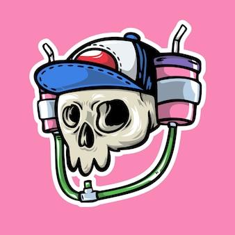 Crâne et boissons