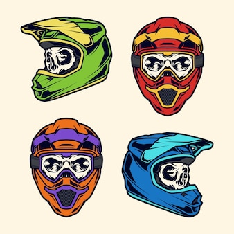 Crâne de casque de motocross