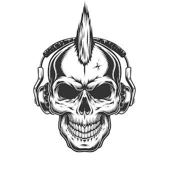 Crâne avec un casque