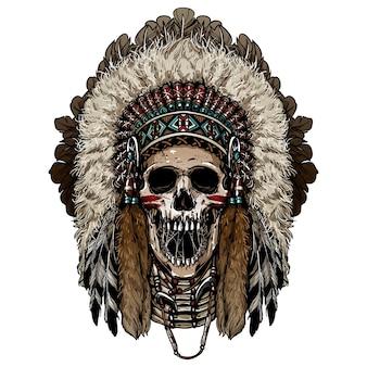 Crâne de chef indien