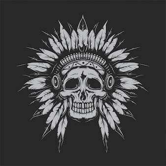 Crâne de chef mort