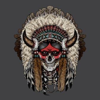 Crâne de cherokee indien