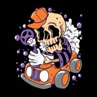 Crâne conduire crâne