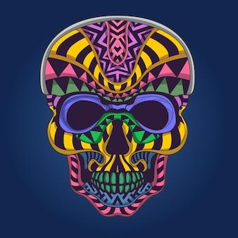 Crâne de couleur pop