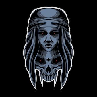 Crâne de dame noire