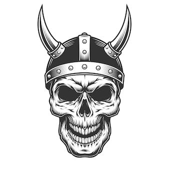 Crâne dans le casque viking