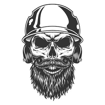 Crâne dans le chapeau de baseball