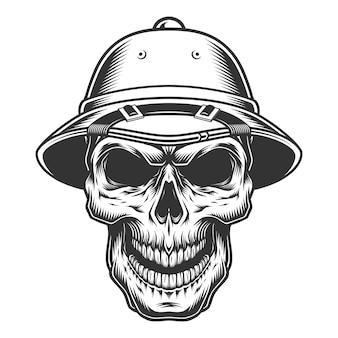 Crâne dans le chapeau de safari