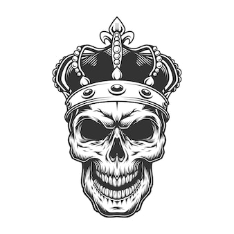 Crâne dans la couronne