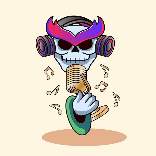 Crâne dans le style moderne des chansons
