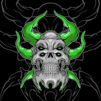 Crâne de démon bête