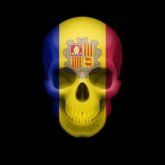 Crâne de drapeau andorran