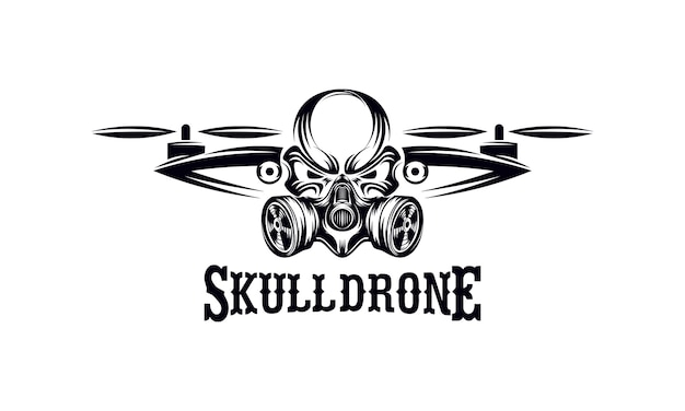 Crâne drone logo