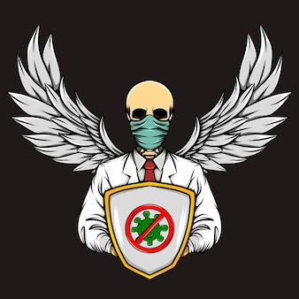 Le crâne du médecin gardien protège du virus