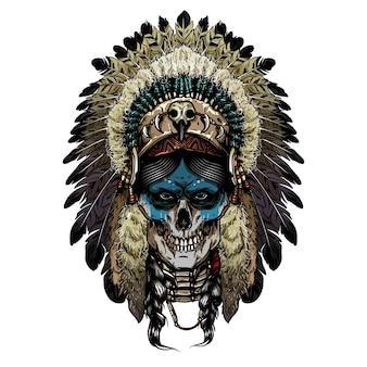 Crâne effrayant indien