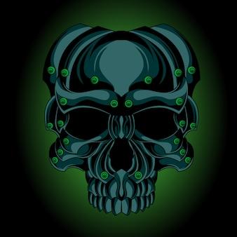 Crâne de fer vert