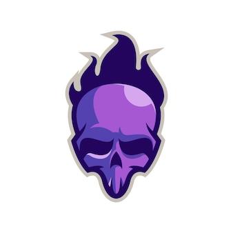 Crâne de feu logo