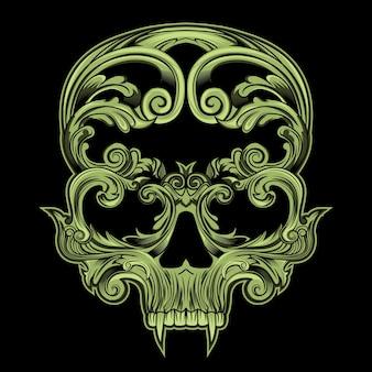 Crâne en floral