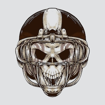 Crâne de football américain vintage