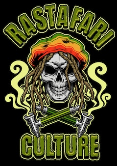 Crâne fumer de l'herbe