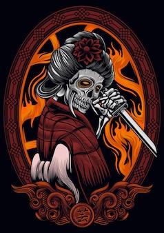 Crâne de geisha