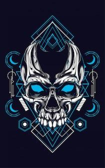Crâne géométrie sacrée