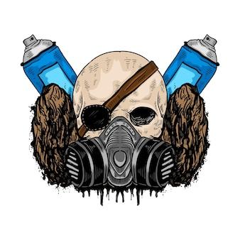Crâne et graffitis